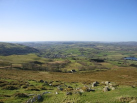 View from Llanddewi Brefi looking towards Lampeter